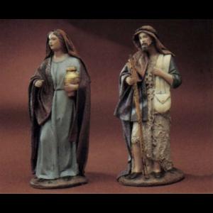 Shepherdess with Gold Pot/ Shepherd with Satchel