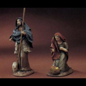 Shepherd with Lamb and Staff/ Shepherdess with Basket of Fruit